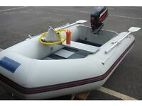SEAGO 260 INFLATABLE DINGHY ( 2015 ) WITH MERCURY 4HP S/S OUTBOARD ENGINE