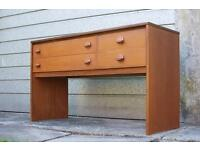 Retro Mid Century Desk Teak by Stag Furniture
