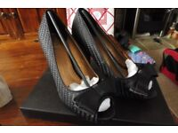 Phase Eight Black High Heel Shoes Size 5