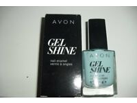 "BRAND NEW IN BOX AVON GEL SHINE NAIL ENAMEL ""MINT TO BE"" COLOUR"