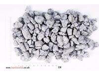 SILVER GREY GRANITE LANDSCAPE GARDEN CHIPPINGS-Free Delivery- 20 kg