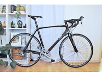 Muddyfox Race 400 Full Carbon Road Bike 57cm Large Shimano Tiagra 2x10 spd - Serviced