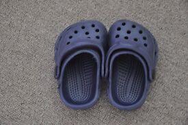 Baby toddler Crocs size 20 UK 4 dark blue
