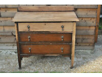 Antique Solid Oak Edwardian Chest of Drawers