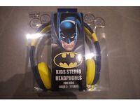 BATMAN KIDS HEADPHONES (NEW)