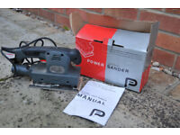 Power sander, orbital, mains powered, 120W, 1/3 sheet.
