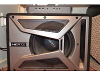 "Hertz 700W EBX-250 Subwoofer 10"" with amplifier"
