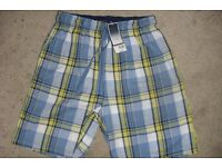 "NEW WITH TAGS ""BHS"" PAIR MEN'S SIZE SMALL 30""/33"" WAIST LOUNGE SHORTS"