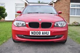 BMW 120d, crimson red, 2008,