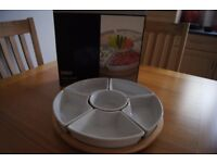 WHITE CERAMIC PARTY DISHES FOR SALE