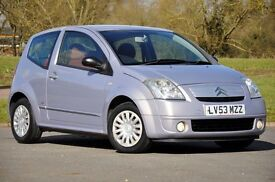 2003 Citroen C2 1.1 i SX 3 DOORS+12 MONTHS MOT+4x NEW TYRESJUST SERVICED+SERVICE HISTORY+LOW MILEAGE