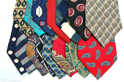 60 JOB CRAFT Projects Make QUILTING MEN Clean 100% SILK TIE NECKTIE TIES  LOT