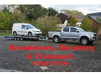 CAR VAN PLANT TRANSPORTATION BREAKDOWN and RECOVERY ( Tractor Trailer Quad Classic )