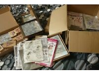 Large collection of rubber stamps, primarily unmounted