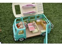 Sylvanian Brown Mouse Family ONLY (Campervan NOT included, sold in separate listing)