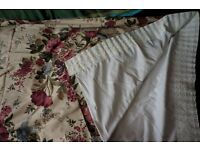 FURTHER REDUCED -A pair of Dorma Red Lavinia Curtains