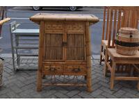 oriental bamboo cabinet sideboard dresser