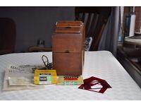 Vintage photographic – Johnson Exactum contact printer and darkroom lamp.