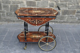 vintage sorrento italian drinks trolley