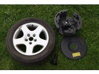 "16"" Audi Alloys Wheel + Tyres + Insert 215/55/R16 Audi A6 C5 # 600601025C"
