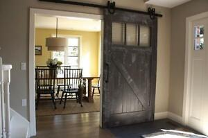 Reclaimed Wood Traditional Barn Door. By LIKEN Woodworks