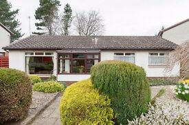 Spacious 3 bed detached bungalow in Colinton with flexible furnishings available NOW – NO FEES!