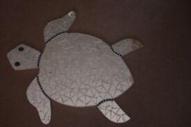 Fantastic unique large mirror/mosaic swimming sea-turtle ideal for children, family bathroom, garden