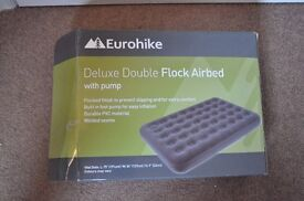 Deluxe Flocked Airbed Double With Pump EUROHIKE