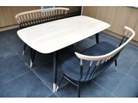 Ercol Originals Plank Table and Love Seat / Bench x 2