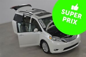2013 Toyota Sienna Limited GPS+DVD+Cuir+Toit Pano+Camera de Recu