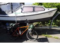 20ft boat , 8hp honda , galvanised trailer , all in beautiful condition , £2950 , selby area .