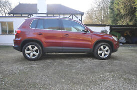 VW Tiguan One Owner Very High Spec. Auto. Full Black Leather.