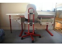 Children/Adult MOLL drawing table adjustable work station/ desk