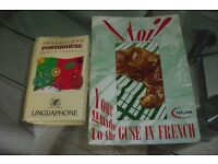 PACK OF 2 LANGUAGE BOOKS ON FRENCH + PORTUGUESE IN GOOD CONDITION