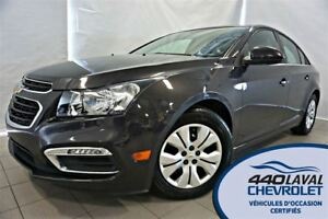 2015 Chevrolet Cruze **RÉSERVÉ** LT CAMERA BLUETOOTH