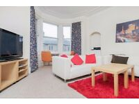 Bright and tasteful 4 bedroom top floor HMO flat in Polwarth available March – NO FEES!
