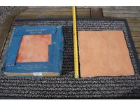 Terracotta floor tiles.
