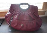NICA ladies cerise coloured large handbag