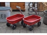 vintage style red cart