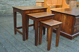 next walnut nest of tables