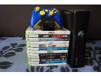 Microsoft Xbox 360 120gb limited controller 12 games very nice and cheap bundle