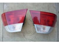 BMW E46 2 DOOR 98-02 PAIR CRYSTAL CLEAR/RED LED LAMP REAR LIGHT LENS CLUSTERS