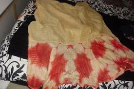 WRAP AROUND SARONG IN GOLD/RED