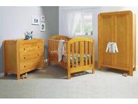 Mamas & Papas 3 Piece Nursery Furniture Set Cot bed, dresser and wardrobe