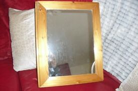 BATHROOM CABINET WITH MIRROR IN IN ANTIQUE PINE FINISH IT'S QUITE HEAVY