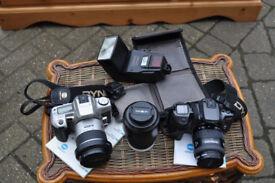 impressive minolta slr camera set up