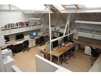 Desk spaces in design studio - Clapham Lambeth SW4