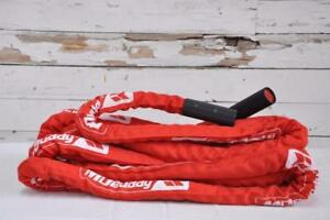eSPORT IRON BULL CONDITIONING RED ROPE WITH COVER AND Super Grip Black oxide Collars