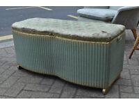 vintage retro loom ottoman box blanket box shabby chic