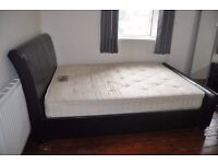 Two double beds (frame + mattress) for sale: £40 each or £65 for both.